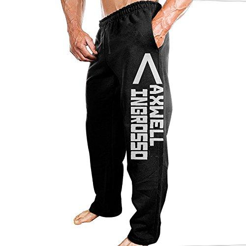 SSDDFF Men's Axwell and Swedish DJ Duo Ingrosso Cozy Travelling Sweatpants Leisure Wear Size XXL Black -