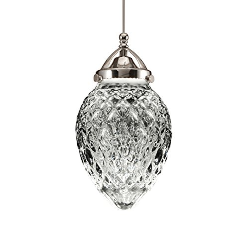 WAC Lighting MP-LED491-CL/CH Cambridge 5.6W 12V 3000K LED Monopoint Pendant with Clear Glass Shade and Chrome Finish Clear Glass Monopoint Pendant
