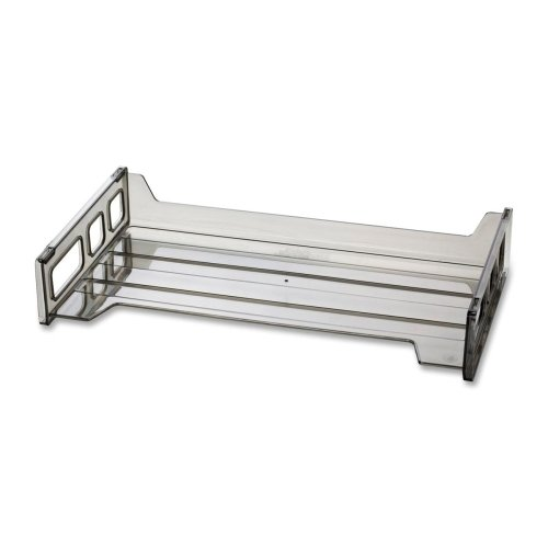 """UPC 042491211015, Wholesale CASE of 25 - Officemate Smoke Side-Loading Desk Trays-Side Loading Stackable Desk Tray, 16-1/4""""x9""""x2-3/4"""", SM"""