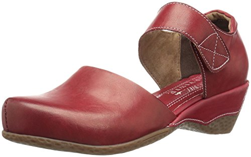 Gloss Womens Shoe Red (L'Artiste by Spring Step Women's Gloss Mary Jane Flat, Red, 38 EU/7.5-8 M US)