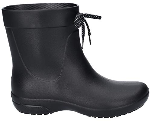 crocs Women's Freesail Shorty Rainboot, Black, 9 M US