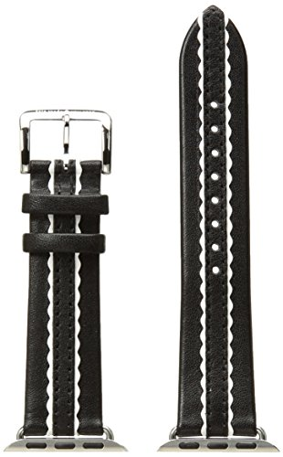kate spade new york 25mm Apple Watch Band, Black Leather, KSS0004