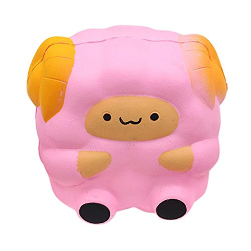 Wotryit 12cm Squishy Sheep Cartoon Kawaii Slow Rising Scented Squeeze Toy (E)