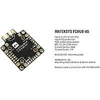 Matek Systems FCHUB-A5 Power Distribution Board PDB W/ CURRENT SENSOR 184A, BEC 5V 2A for Carbon Fiber FPV Racing Quad Frame X Quadcopter Frame like Martian II 220 QAV250 QAV210 X210
