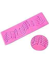 Musical Notes Lace Strip Silicone Mold Decor Pad Music Decoration Mat for Fondant Gum Paste Chocolate Crafts