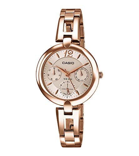 Casio Enticer Analog Rose Gold Dial Women #39;s Watch   LTP E401PG 9AVDF A975