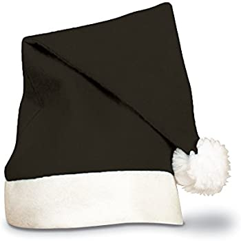 amazon com century novelty classic black santa hat clothing