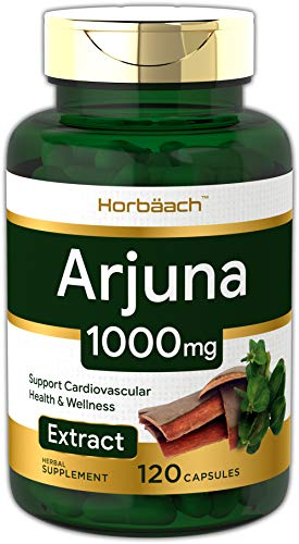 Horbaach Arjuna Standardized 1000 mg 120 Capsules - Supports Heart Health | Non-GMO, Gluten Free | from Arjuna Bark Herb Extract