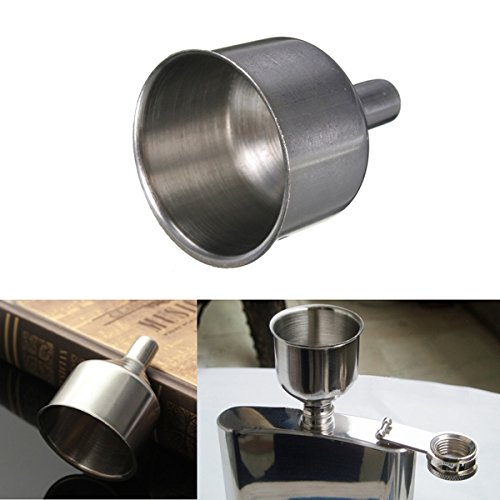 Stainless Steel Bell Style Funnel Hopper For Flask Oil Wine Pot Filler (Pull Down Lid compare prices)