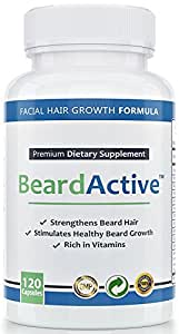 Beard Active™ – Remedio para crecimiento de barba   120 cápsulas de dosis alta   FABRICADO EN ALEMANIA   Estimular, fomentar y acelerar el crecimiento de la barba   Para un crecimiento de barba denso y hermoso