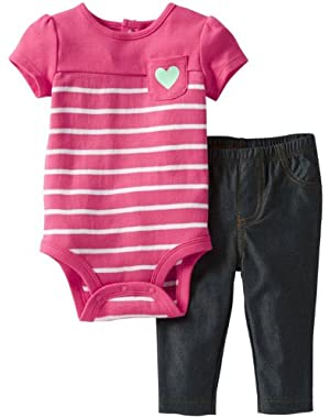 Carters Baby Girls' Heart Pant Set
