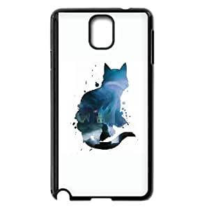 Samsung Galaxy Note 3 Cell Phone Case Black Cat and loneless VA2425609