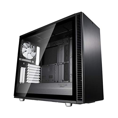 Fractal Design Define S2 - Mid Tower Computer Case - High Airflow and Silent - PSU Shroud - Modular Interior - Water-Cooling Ready - USB Type C - Light Tint Tempered Glass Side Panel - Black Tg