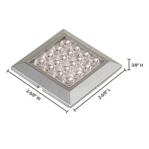 Jesco Lighting SD121CV-35-50-S Orionis - 2.63'' LED Square Surface Mount Display Light, Silver Finish by Jesco Lighting Group
