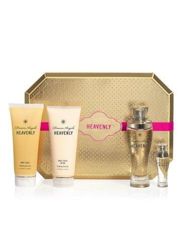 Victoria Secret Dream Angels Heavenly Deluxe Gift Set Includes 2.5oz Eau De Parfum, 0.25oz Eau De Parfum, Body Lotion and Body Wash - Sensual Touch Parfum Gel