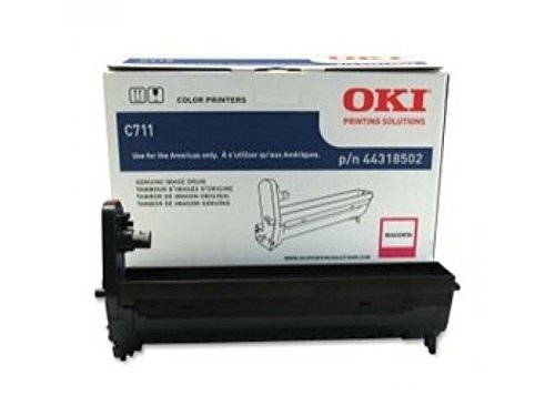 44318502 Okidata 44318502 OEM Magenta Imaging Drum Unit, Okidata C711 Series Works with: Okidata C711dn 34-36PPM Color Laser Printer Okidata C711dtn OEM by Oki Data