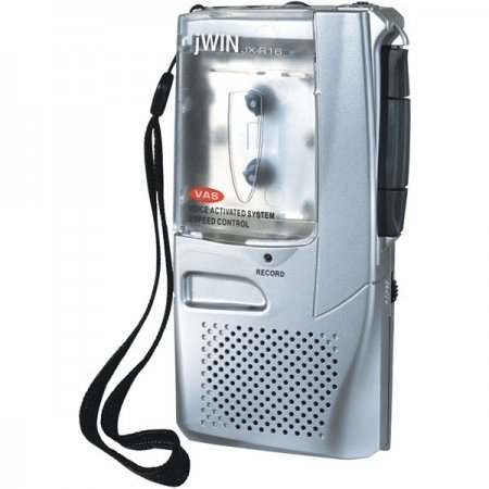 Jwin Systems Speaker (JWIN JXR16 Voice-Activated Micro Cassette Recorder)