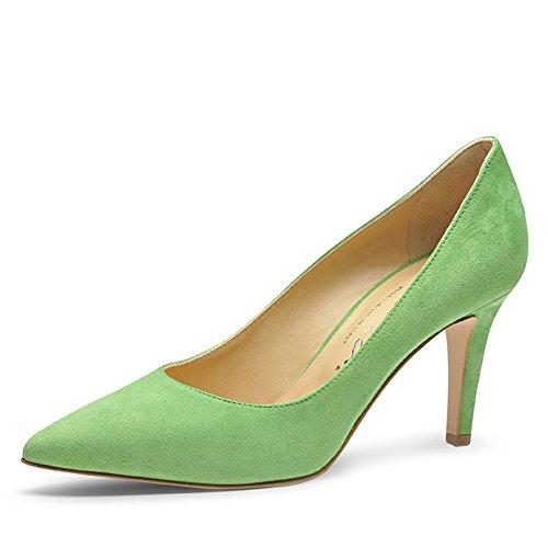 claro para Shoes Verde de Piel vestir Evita verde de Zapatos mujer A7wqA4fp