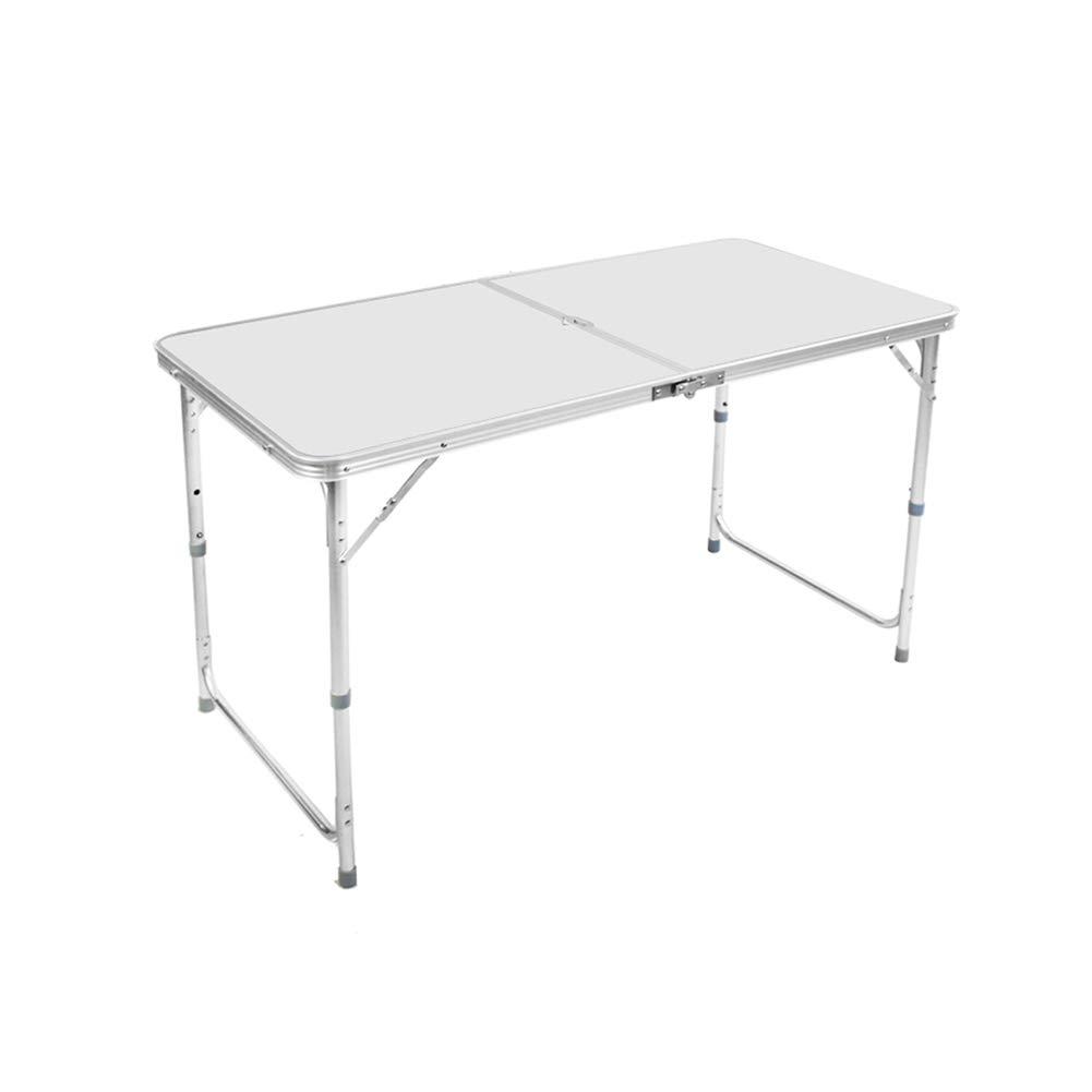 AA 折り畳みテーブル屋外折りたたみテーブルポータブルテーブル防水性と耐久性 ホーム (色 : 白) B07H95BH5C  白