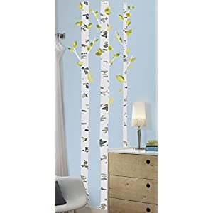RoomMates Birch Trees Peel And Stick Giant Wall Decals – RMK2662GM