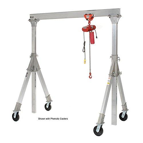 Vestil-Aluminum-Gantry-Crane-AHA-15-12-12-PNU-Adj-Ht-Pneumatic-Casters-1500-Lb
