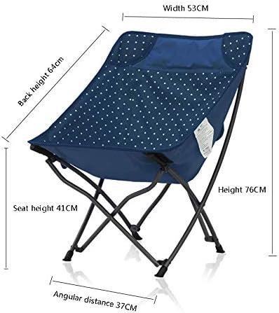 IQQI Camping Tragbarer Stuhl Einfachen Klappstuhl Geeignet für Strand Camping Sketch Can Bär 100Kg,Blau