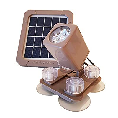 AquaHEX 60X Solar-Powered Underwater Spotlight, Warm White LED, for Pond Outdoor Garden Yard Patio Gazebo Water Fountain Landscape Groundcover Border Plants