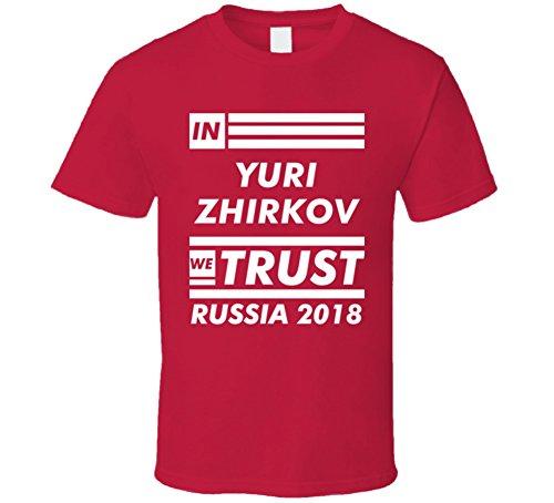 in Yuri Zhirkov We Trust Russia Player 2018 World Cup Fan T Shirt S Red