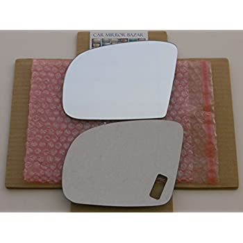 New Replacement Mirror Glass with FULL SIZE ADHESIVE for Mercedes-Benz GL ML R Class Driver Side View Left LH