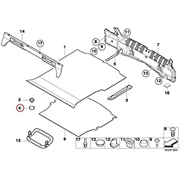 Amazon Com Bmw Genuine Trunk Floor Trim Panel Loop Tape 323i 325i