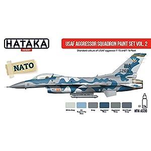 Hataka Hobby AS30 USAF Aggressor Squadron F15/F16 Fleet Model Kit Paint Set Vol.2 NATO 2