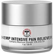 Medical Grade Skin Care Hemp Cream for Pain Relief | Contains Maximum Strength 10% Emu Oil for Potent, Fast-Acting Pain Reliever