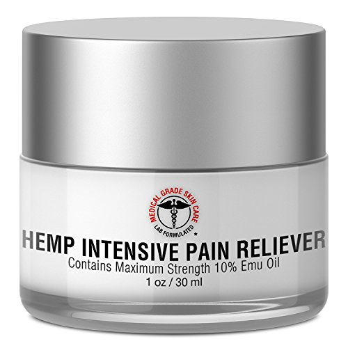 Hemp Cream for Pain Relief | SkinPro Medical Grade Skin Care | Contains Maximum Strength 10% Emu Oil for Potent, Fast-Acting Results