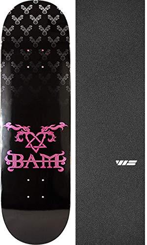 Element Skateboards Bam Margera Heartagram Bam ブラック - Bam Skateboards/ピンク スケートボードデッキ - Jessup WSダイカットブラックグリップテープ - 2点セット B07KCM7C81, おおいたけん:aa5ecf9a --- grupocmq.com