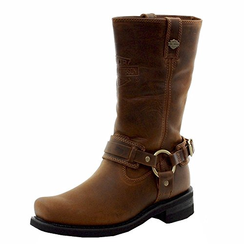 Harley-Davidson Men's Westmore Motorcycle Harness Boot, Brown, 9 M US