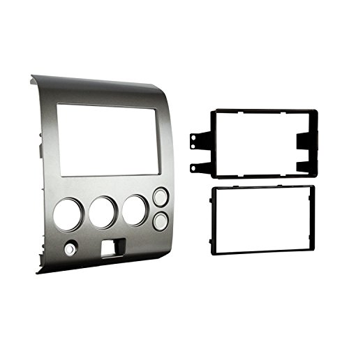 Metra 95-7406 Double DIN Installation Dash Kit for 2004-2007 Nissan Titan and 2004-2005 Nissan Armada -Silver ()