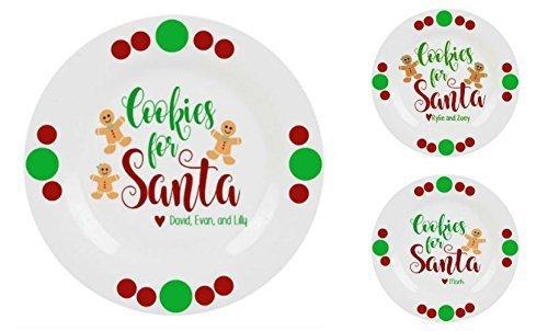 Custom Made Cookies For Santa Decorative (Personalized Cookies For Santa Plate)