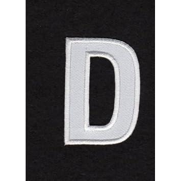 Aufnäher zum Aufbügeln, Alphabet Buchstaben D, Weiß: Amazon.de ...
