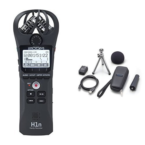 Zoom H1n Handy Recorder (2018 Model) with APH-1n Accessory Pack