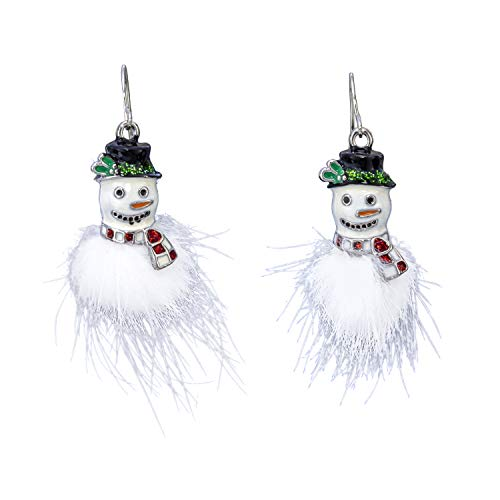 Madison Tyler Holiday Collection Pom Pom Snowman Earrings (Madison Sweaters Christmas)