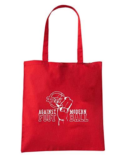 Speed Shirt Borsa Shopper Rossa TUM0162 AGAINST MODERN FOOTBALL
