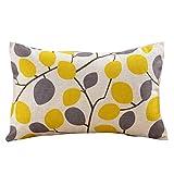 Rectangle Throw Pillowcase, Kimloog Cotton Linen Geometric Pattern Cushion Pillow Case Sofa Car Living Room Decoration (C)