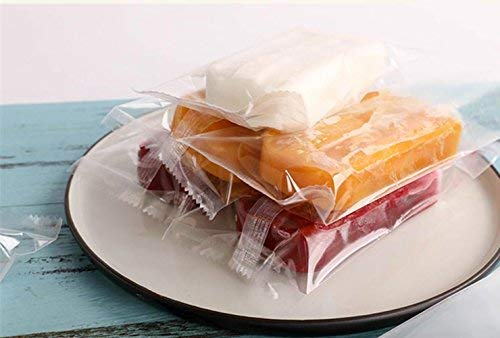 Clear Ice Pop/Candy Plastic Bags Food Grade Hot Sealing Packing Containers 3.5*3.8 Inch 200 Pcs