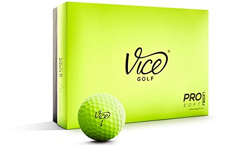 Vice Pro Soft Golf Balls, Lime (One - Lime Pro