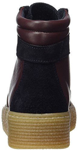 Pieces Pspaloma Leather Sneaker Port Royale, Baskets Montantes Femme Rouge (Port Royale)