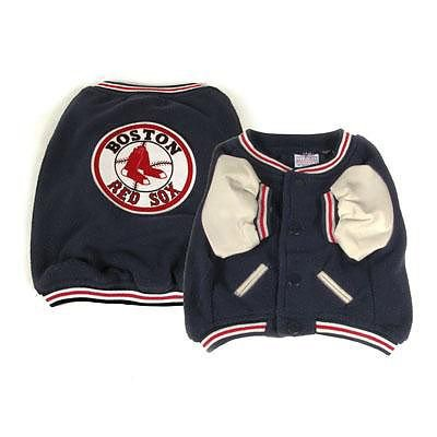(Sporty K9 Boston Red Sox Varsity Dog Jacket, Large)