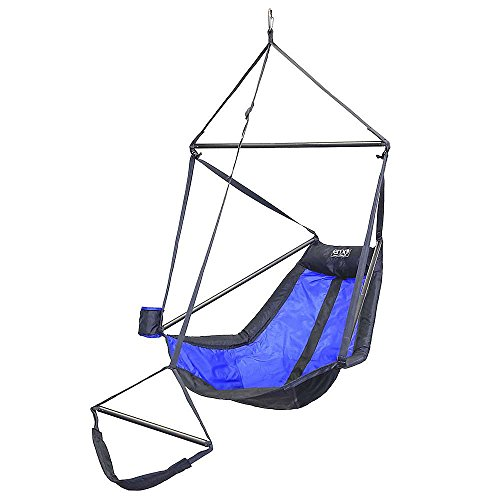 ENO Eagles Nest Outfitters - Lounger Hanging Chair, Royal/Charcoal