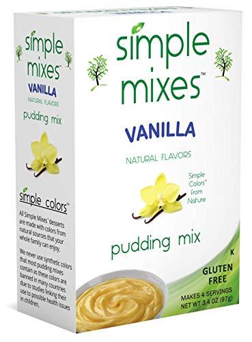 Simple Mixes Pudding Mix, Vanilla, 6 count (Parck of 6)