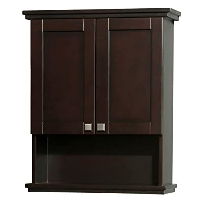 Wyndham Collection Acclaim Wall Mount Bathroom Cabinet with Brushed Chrome Hardware,