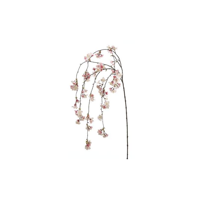 """silk flower arrangements 58"""" silk cherry blossom hanging flower spray -pink/cream (case of 6)"""